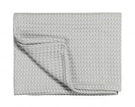 Plaid Pique WF Blanket, grey 01